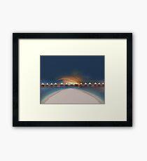 Sunset at tahiti Framed Print