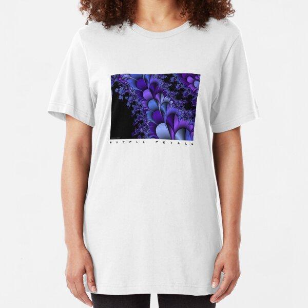 Purple Petals Slim Fit T-Shirt