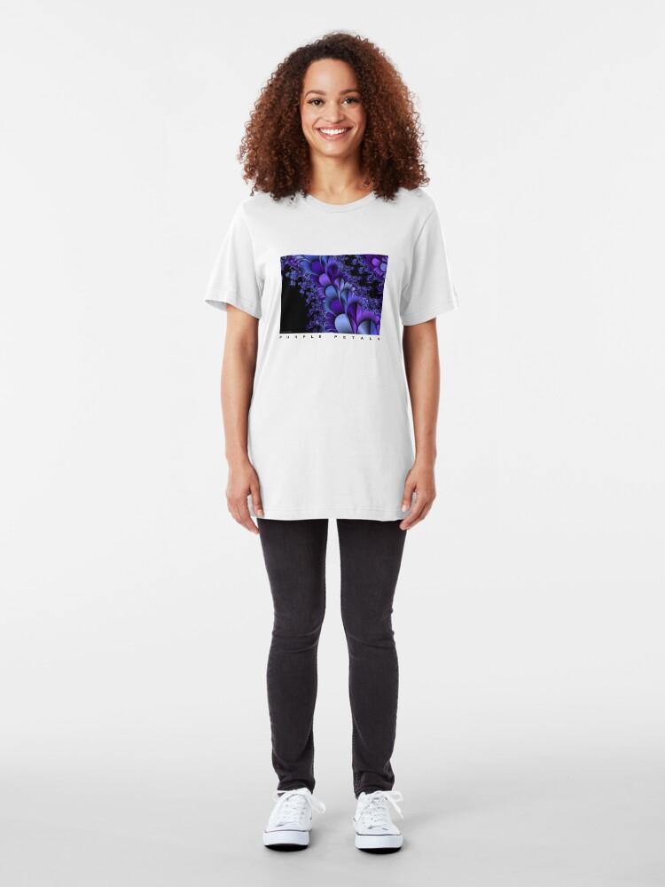 Alternate view of Purple Petals Slim Fit T-Shirt
