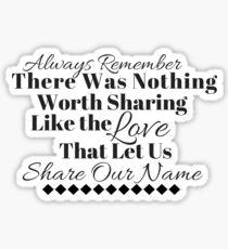 Always Remember Black & White - Avett Brothers Sticker