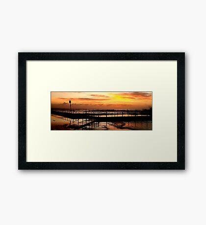 Bathing In The Light - Mona Vale Beach, Sydney Australia Framed Print