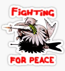 Fighting For Peace (4) Sticker