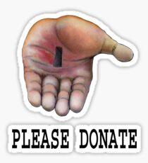 Please Donate... Sticker