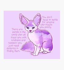 """""""You Don't Have to Settle for Anyone"""" Dawn Sky Fennec Fox Photographic Print"""