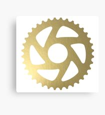 Gold Sprocket Canvas Print