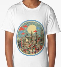philadelphia panorama 3 Long T-Shirt