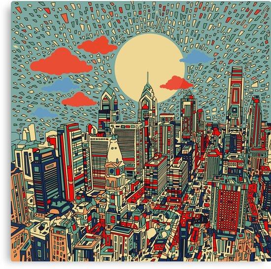 «panorama de philadelphia 3» de BekimART