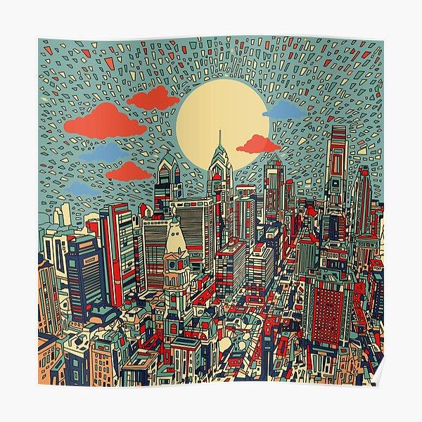 philadelphia panorama 3 Poster