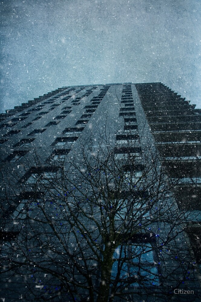 Snow series Tower Block by Nikki Smith