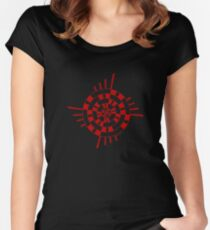 Mandala 1 Colour Me Red Women's Fitted Scoop T-Shirt