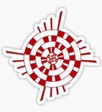 Mandala 1 Colour Me Red Sticker
