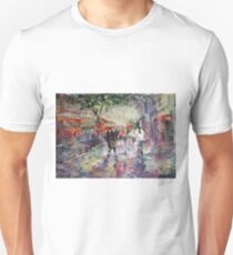 Red London Buses & Phone Boxes - Painting Unisex T-Shirt