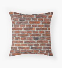 Old Brick Wall Texture Throw Pillow
