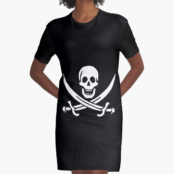 Pirate Flag Graphic T-Shirt Dress