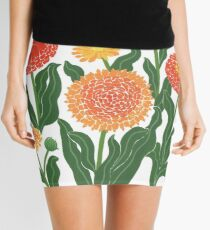 Red, yellow, and orange floral pattern no.2 Mini Skirt