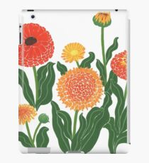 Red, yellow, and orange floral pattern no.2 iPad Case/Skin