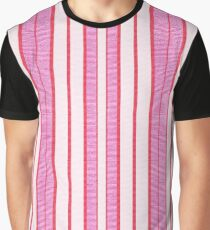 Pink Stripes Textured Pattern  Graphic T-Shirt
