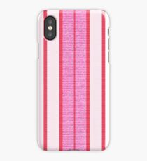 Pink Stripes Textured Pattern  iPhone Case/Skin
