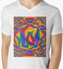 Infinite Smeared Rainbow Men's V-Neck T-Shirt