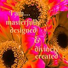 Gerber Daisies with Masterfully Designed and Divinely Created Quote by Jacqueline Cooper