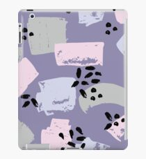 Abstract pattern with brush strokes iPad Case/Skin