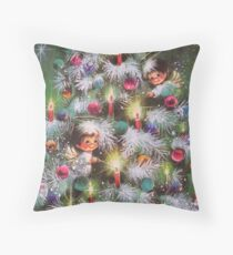 Vintage Christmas Card #4 Throw Pillow