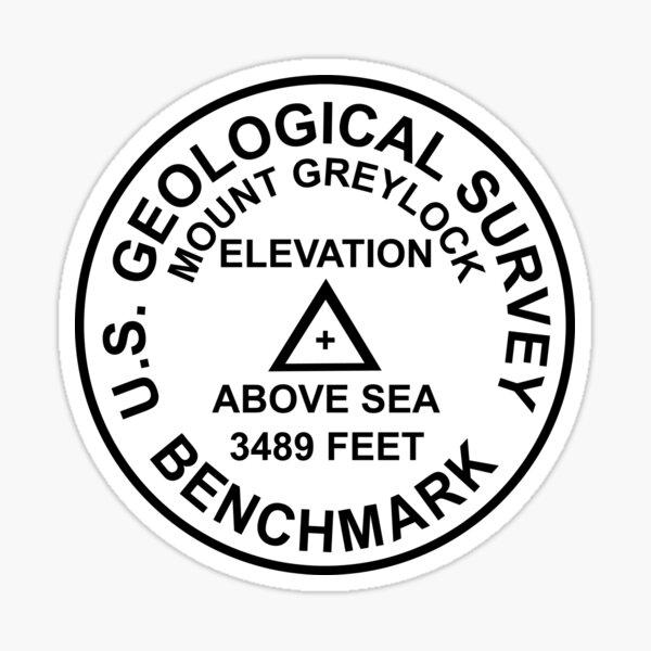 Mount Greylock, Massachusetts USGS-Stil-Benchmark Sticker