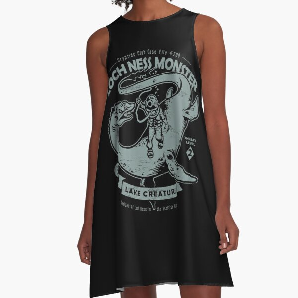 Lochness Monster - Cryptids Club Case file #200 A-Line Dress