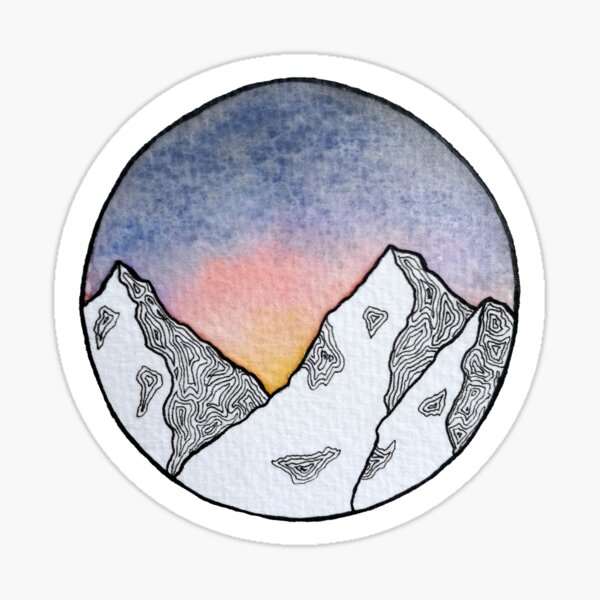 Dawn in the Mountains Sticker