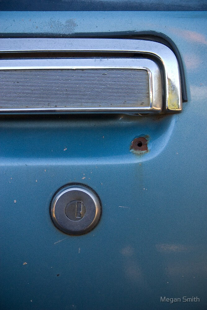 Old Car Handle Abstract by Tim Smith