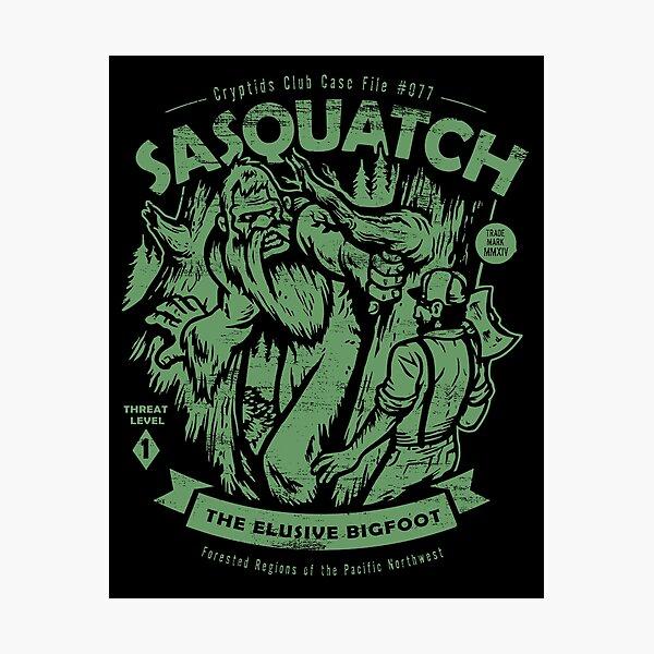 Sasquatch - Cryptids Club Case file #077 Photographic Print