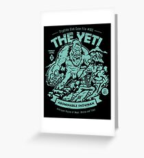 The Yeti - Cryptids club Case file #102 Greeting Card