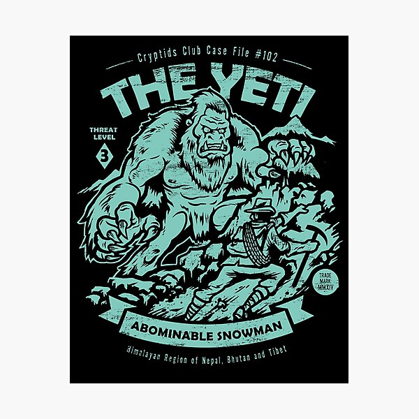 The Yeti - Cryptids club Case file #102 Photographic Print