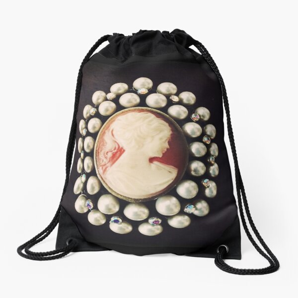 Camée Vintage classique - Photo d'Art - Cadeau inspiré des bijoux Sac à cordon