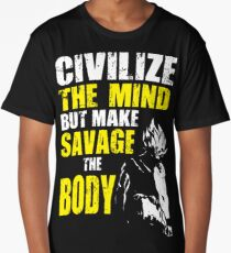 Make Savage The Body - Ripped Saiyan Back Long T-Shirt