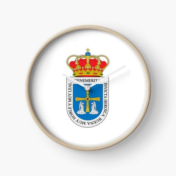 Coat of Arms of Oviedo, Spain Clock