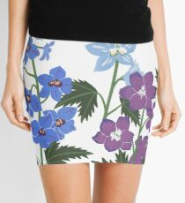 Delicate blue and purple flowers Mini Skirt