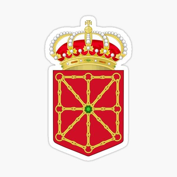 Escudo de Navarra, España Pegatina