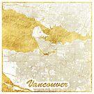 Vancouver Karte Gold von HubertRoguski