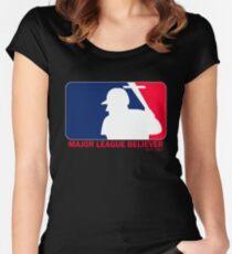 Major League Believer Women's Fitted Scoop T-Shirt