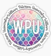 William Paterson University - Multi Color Tile Sticker