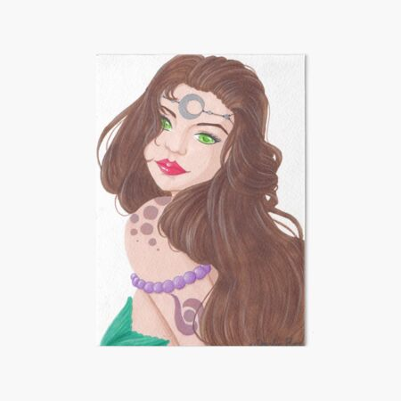Sirène brune tatouée Impression rigide
