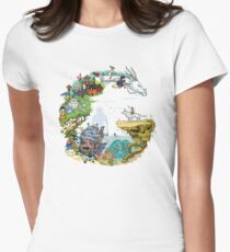Ghibli Tribute Womens Fitted T-Shirt