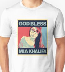 God Bless Mia Khalifa Unisex T-Shirt