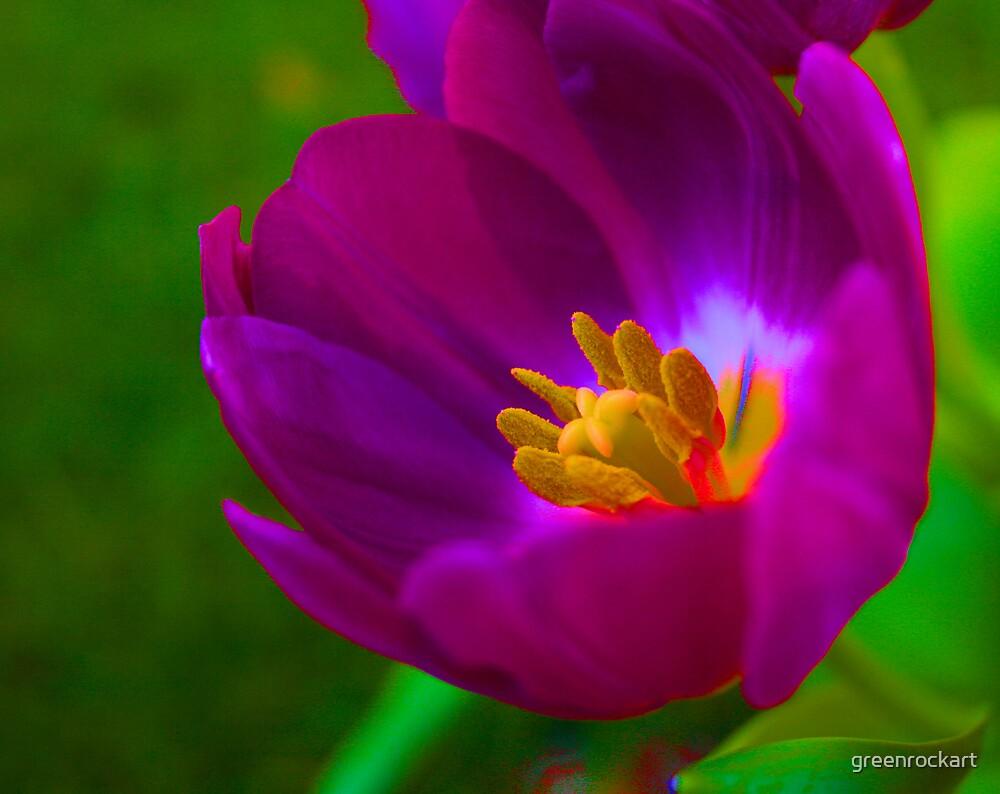Neon Tulip. by greenrockart