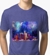 Starry Night Los Angeles Tri-blend T-Shirt