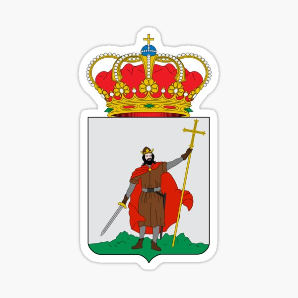 Coat of Arms of Gijon, Spain Sticker