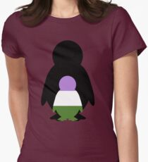 Genderqueer Mama Penguin Womens Fitted T-Shirt