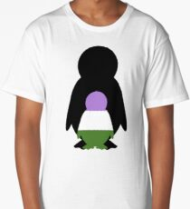 Genderqueer Mama Penguin Long T-Shirt