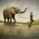 An Elephant and his Boy by Vin  Zzep